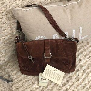 Brown Fossil shoulder purse